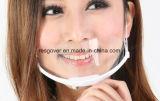 Masque protecteur en plastique sanitaire clair pour le service de traiteur