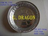 Envase para llevar disponible de la asación de aluminio del Bbq de las bandejas de la hoja (AFC-006)