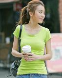 T-shirt fait sur commande de Spandex du coton 5% de la vente en gros 95%