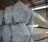 BS1387 galvanizado alrededor del tubo de acero para la construcción del invernadero