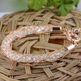 Whosaleのラインストーンの宝石類の水晶網の合金のカスタム魅力のブレスレット