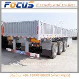 販売のための三車軸60t側面か側板または塀の実用的なトレーラー