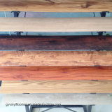 Insonorisants en bois sèchent le plancher arrière de planche de vinyle