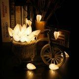 彫面を切り出されたC9は白25 LED 16FTの装飾的なクリスマスの照明を暖める