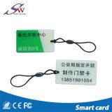 Marchio a resina epossidica trasparente Keychain Em4100 di figura quadrata