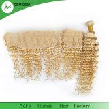Белокурые глубокие волосы волны с сопрягаемыми человеческими волосами 100% Frontals