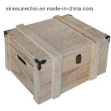 High quality Paulownia Wooden box for Black Tea on of halls