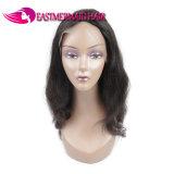 Parrucca Glueless della parte anteriore del merletto dell'onda del corpo di Puruvian con la riga naturale dei capelli del bambino per le donne di colore