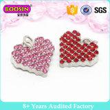 [فهشيون] [سرستل] قلب فتنة, أحمر [رهينستون] معدن فتنة مدلّاة لأنّ مجوهرات [ب201]