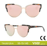 Neue Entwurfs-Frauen-Sonnenbrillen mit Cer UV400 (125-B)