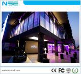 Alta visualización de LED publicitaria transparente de cristal de la visualización P3.75mm de Transparancy LED