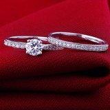 De Ring van het Paar van de Juwelen van het kristal voor Minnaars Size6 7 8 9