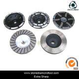 Double Turbo Tipo de alumínio Diamond Grinding Tools Cup Wheels