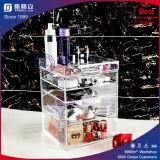 Organizador cosmético acrílico desobstruído, caixa da gaveta da composição 5 do Lucite,