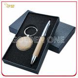 Insieme del regalo della catena chiave del metallo promozionale e del supporto di scheda