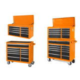 42in 11 Drawer New Design Cheap Orange Metal Roller Cabinet