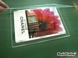 Pubblicità della visualizzazione acrilica del cristallo A4