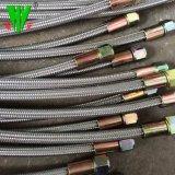 El hierro de alta temperatura Tubo Corrugado trenzado con SS304 PTFE Teflon Hose