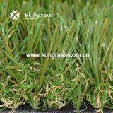 Vendita calda 40 millimetri del giardino di erba artificiale d'abbellimento ad alta densità di svago