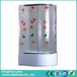 Sala de ducha de esquina con patrón de hojas (LTS-825N)