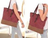 PUの女性キャンバスのハンド・バッグデザイナー戦闘状況表示板のハンドバッグ