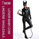 Het sexy Kostuum van de Lingerie van pvc Catsuit van het Latex (L15337)
