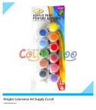 peinture acrylique non toxique 8*5ml pour des étudiants et des enfants