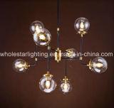 Lampadario a bracci del metallo con vetro colorato o libero (WHG-652)