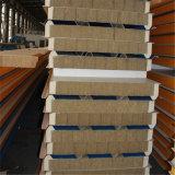 Les matériaux de construction en acier de couleur tuile panneau sandwich en laine de roche