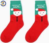 De aangepaste Unisex-Manier van Katoenen Elastane van de Polyester mept de Sokken van Kerstmis