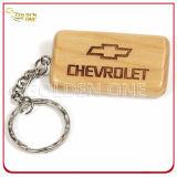 Zoll gravieren hölzernen Schlüsselring mit aufgetragenem Metall