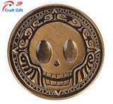 Moneta di prova rotonda personalizzata del reticolo creativo del cranio di alta qualità