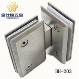 BH-203 borde biselado de 180 grados de bisagra de puerta de ducha abrazadera de montaje de vidrio
