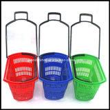Fabrication en plastique neuve de panier de chariot à panier de roulement de panier à provisions de Supermaket