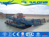 Jacinto de agua y de corte de láminas de limpieza de basura/Barco Barco/dragas para la venta/cosechadora de malezas acuáticas