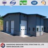 Magazzino prefabbricato della struttura d'acciaio di disegno moderno con la certificazione