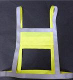 Revestimento de banda reflexiva de tecido de confecção de malha de poliéster 100% e fita reflexiva de alto brilho