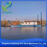 広く利用された川の砂鉱山の浚渫船