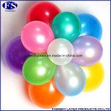 約20のカラー真珠カラーの金属気球