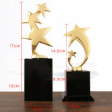 Home Art Artesanato troféu de cristal de Metal