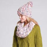 Теплой зимой Red Hat и Шаль для женщин