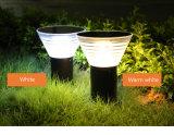 Nouveau design Pelouse lumière solaire Lampe LED de plein air de jardin Cottage de lumière solaire sur la Cour d'éclairage de poste