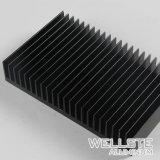6063 T5 anodisation noire dissipateur de chaleur en aluminium pour l'alimentation