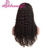 Lili Beautylace 아기 머리 깊은 파 흑인 여성 자연적인 검정을%s 브라질 머리 가발을%s 가진 정면 사람의 모발 가발 아무도 Remy 머리