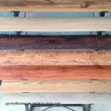 Carrelage de luxe arrière sec de vinyle de configuration en bois d'intérieur pour l'espace de film publicitaire de Home Office