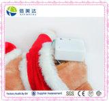 Cérebro musical eletrônico personalizado ursinho de pelúcia para o Natal