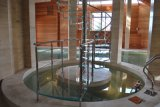 モジュラー鋼鉄柵の曇らされたガラスのまっすぐなステアケース(HH8279)
