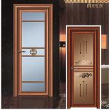 健康なデザイン木カラーアルミニウム浴室のドア