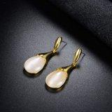 Projetos simples do brinco do ouro do olho de gato da jóia da forma para mulheres