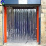 소통량 플라스틱 커튼 유연한 Ribbed 다채로운 PVC 지구 문